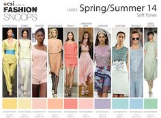 Spring/Summer 2014 Runway Color Trends Soft Tones