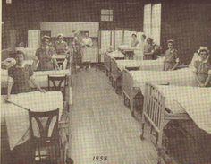 The Beaver Dam Vocational School Nursing lab in 1958.