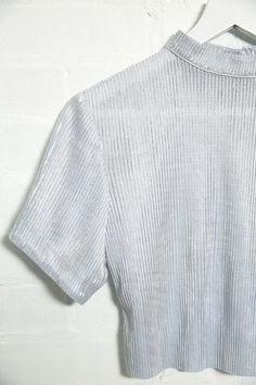 Metallic Pleat Crop Top http://www.thewhitepepper.com/collections/tops/products/metallic-pleat-crop-top
