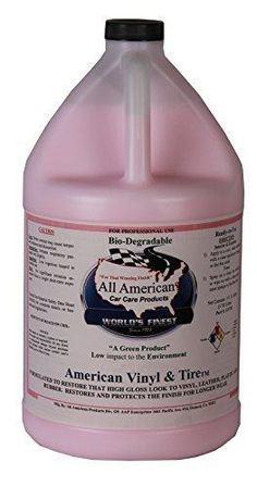 All American Car Care Products American Vinyl and Tire High Gloss Tire Dressing (1 Gallon)