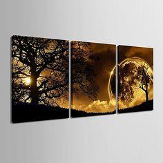 Landscape Three Panels Vertical Print Wall Decor Home Decoration 2018 - $893.36