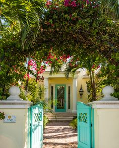 turquoise gate + door | Sciame Homes
