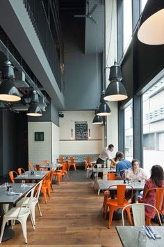 Jamie's Italian, London. Beautiful design, but I bet that gets loud when it's crowded...