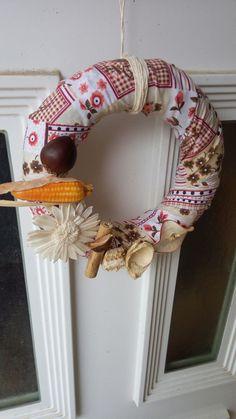 straw wreath, autumn design