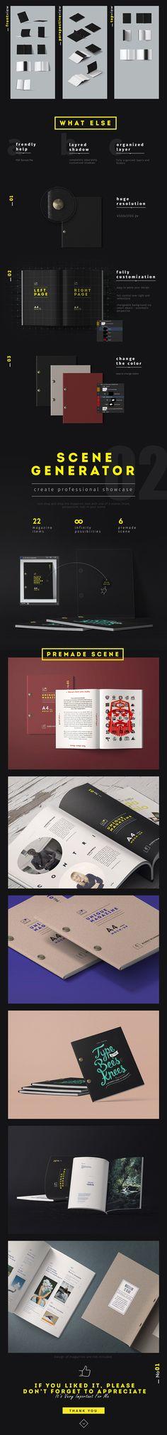 82 MAGAZINES MOCKUPS BUNDLE 41 items by Aleksey_Belorukov on @creativemarket #ad