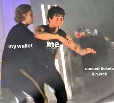 My poor wallet 😂😂 ashtonirwin ashtonfletcherirwin ashton irwin calumhood calumthomashood calum hood michaelclifford michaelgordonclifford michael clifford lukehemmings lukeroberthemmings luke hemmings soundsgoodfeelsgood youngblood 5sos Funny, 5sos Memes, Funny Memes, Pop Rock, 5secondsofsummer, Concert Tickets, 5sos Concert, 1d And 5sos, 5sos Luke