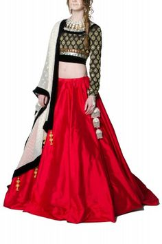Mani Jassal Circle Skirt Lehenga. My kind of lehenga - simple and elegant!