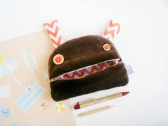 Monster pencil case   zezling monster bag   toddler gift   cute school supplies fur monster pencil case   furry bag   back to school School Pencil Case, Big Purses, Cool Gifts For Kids, Cute School Supplies, Brand Collection, Head Accessories, Toddler Gifts, Waterproof Fabric, Soft Dolls