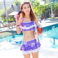 $24.69 (Buy here: alitems.com/... ) Plus Size Swimwear Women Bikini Push Up Bikini Set Retro Swim Suit Bathing Suits Beach Wear Swim Wear Maillot De Bain Femme for just $24.69