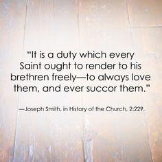 LDS Quote | Joseph Smith  #Service #Charity #Love http://sprinklesonmyicecream.blogspot.com/