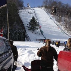The annual Snowflake Ski Jump Tournament in Westby. Ski jumpers come from around the world to compete. http://wilife.tumblr.com/post/42575901880/ski-jump-competition-every-year-ski-jumpers-from