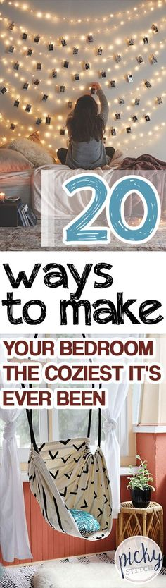 20 Ways to Make Your Bedroom The Coziest It's Ever Been