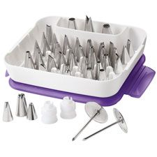 Wilton Master Decorating Piping Tip Set Cake Decorating Supplies Set with 55 Piece Icing Tips, 2 Coupler, 2 Flower Nail-in Decorating Tip Sets from Home & Garden on AliExpress Cake Supplies, Cake Decorating Supplies, Cake Decorating Techniques, Decorating Tips, Baking Supplies, Decorating Websites, Wilton Tips, Cake Decorating Piping, Cookie Decorating