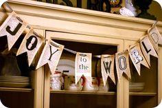 Christmas-Printables | Christmas Printable Banner | Joy to the World Printable | Christmas Decor DIY | TodaysCreativeblog.net