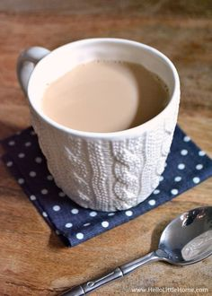 Relax with a cup of Sweet Cinnamon Milk Tea!   Hello Little Home