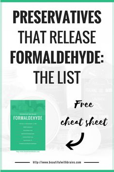 Did you know that some of your skincare products contain formaldehyde? It's a byproduct of some preservatives, such as DMDM Hydantoin. These preservatives release formaldehyde to kill bacteria and fungi that slither their way into your lotions and potions. The amount of formaldehyde they release is too small to kill you, but it can irritate your skin. Click through for the complete list of formaldehyde-releasing preservatives (and how to avoid them).