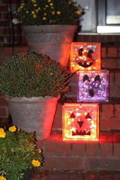Glass block  pumpkins