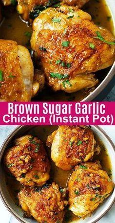 Brown Sugar Garlic Chicken - the BEST chicken recipe for Instant Pot, in sweet a. , Brown Sugar Garlic Chicken - the BEST chicken recipe for Instant Pot, in sweet a. Instant Pot, Crockpot Recipes, Diet Recipes, Healthy Recipes, Cooking Recipes, Shrimp Recipes, Salmon Recipes, Easy Cooking, Recipes Dinner