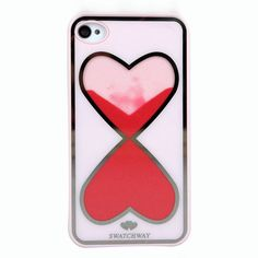 (2) Fancy - Love Heart-shaped Hourglass Hard Cover Case For Iphone 4/4s on Luulla