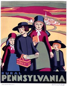 This poster was created circa 1936 by the WPA Pennsylvania Art Project. The poster reads, simply, 'Rural Pennsylvania.' Pinned by Ignite Design & Advertising, Inc. www.clickandcombust.com