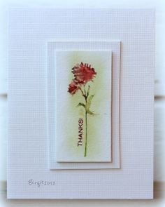 Watercolor crayons + the Wildflowers stamp set from TechniqueTuesday.com = another beauty of a card by Birgit Edblom! I so admire Birgit's craftiness!