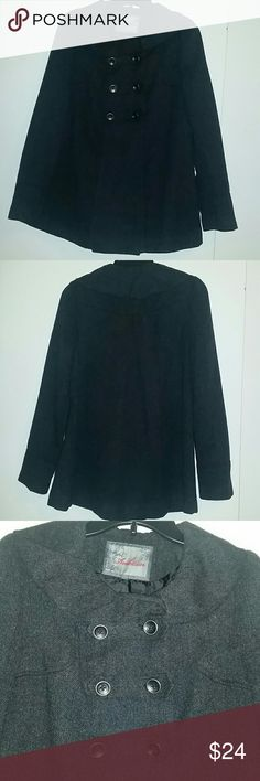 Charcoal Pea Coat Charcoal colored pea coat, size Medium. Perfect condition !! Ambition Jackets & Coats Pea Coats