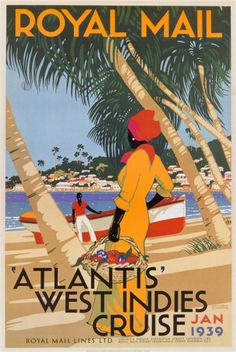 Vintage travel poster - West Indies - Cruise / Royal Mail, 1939