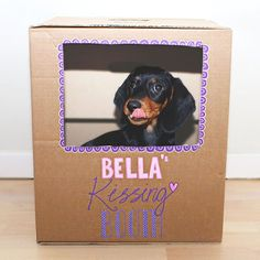 Make your dog a cute kissing booth for Valentine... or just for fun! Gotta make this for Rudy, lol