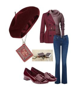 """""""Warm Bookworm"""" by ares-and-aphrodite on Polyvore featuring Once Upon a Time, Royal Robbins, Burberry, Oasis, Miu Miu and Accessorize"""