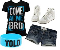 """teen outfit"" by kgigglez on Polyvore. Even though it's meant for a teen I like it"