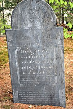 Miss Lucy Lathrop was born about Nov. 1815 and died March 24, 1836 in Jaffrey, NH #genealogy
