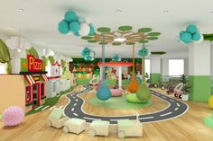 Why First Impression Is Important For A Kindergarten or Daycare? Indoor Play Centre, Indoor Play Areas, Kids Play Centre, Kids Indoor Playground, Playground Design, Party Playground, Daycare Design, Playroom Design, Kindergarten Design
