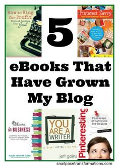 5 ebooks that have helped in growing my blog from 4000 unique visitors to over 62,000 unique visitors in 12 months. #blogging #blog #reading #ebooks