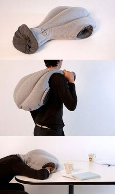 I would love to have this hanging in my office at work. Easy access Office Nap Bag. Genius.