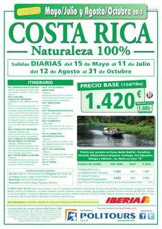 COSTA RICA Naturaleza 100%, salidas del 12/08 al 31/10 desde España (12d/10n) p.f. 1.885€ - http://zocotours.com/costa-rica-naturaleza-100-salidas-del-1208-al-3110-desde-espana-12d10n-p-f-1-885e-3/