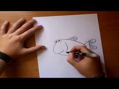 Como dibujar un pez paso a paso | How to draw a fish - YouTube