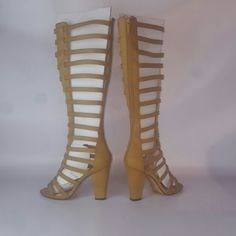 """$30 OFF NIB NWT Heeled Gladiator Boot Michael Antonio """"Jeselle""""  Gladiator-inspired sandal boots by Diba - Michael Antonio. Statement boot might be an understatement, Ladies.  These are hot, hot, hot. Faux leather upper Back zipper 14.5"""" shaft height, back zipper 14"""" calf circumference 4"""" stacked heel Michael Antonio Shoes Heeled Boots"""