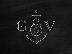 Great idea to have an anchor between you and your hubbies initials