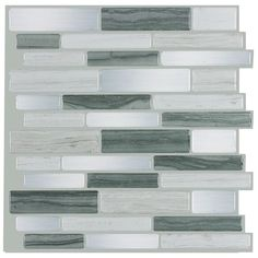 Contemporary Blend Peel & Stick Wall Tile is a DIY 3D self-adhesive that can be installed over existing tiles such as backsplash. No grout needed. USA made. Order a sample!