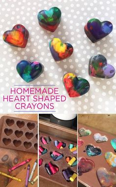 How to make homemade heart shaped crayons - This is a fun Valentine's Day craft to make with the kids using this easy step-by-step tutorial.