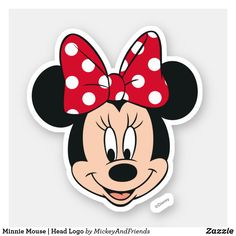 Customizable Custom-Cut Vinyl Sticker made by Zazzle Paper. Personalize it with photos & text or shop existing designs! Minnie Mouse Party, Bolo Mickey E Minnie, Minnie Mouse Stickers, Minnie Mouse Cookies, Theme Mickey, Mickey Mouse Cartoon, Minnie Birthday, Cute Stickers, Birthday Kids