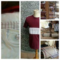 Kaoserbet behind the serbet woven #tshirt #woven #traditional #manual #handmade #souvenir #kaos #tenun #yogyakarta #jogjakarta #indonesia #jogja #craft #kaoserbet #wovenserbet #wovenbag #serbetitutenun #serbet