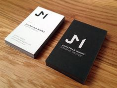 New Business Cards designed by Jonathan Minns. Business Card Design, Business Cards, Personal Identity, Stationery, Monogram, Cards Against Humanity, Graphic Design, Promotion, Lipsense Business Cards