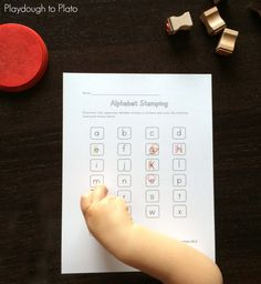 The title of this ABC game really says it all. Kids will love practicing letters with these fun {and FREE!} alphabet stamping sheets.