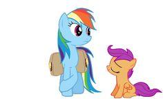 Rainbow Dash and Scootaloo | 2577.Rainbow-Dash-and-Scootaloo.gif