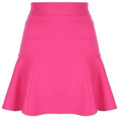 Jane Norman Flippy hem skirt (51 RON) ❤ liked on Polyvore featuring skirts, mini skirts, pink, clearance, short mini skirts, jane norman, flip skirt, pink a line skirt and a-line skirt