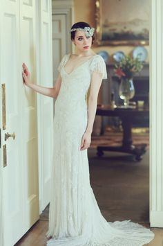 Pictures from a Great Gatsby styled bridal shoot at The Byre at Inchyra.