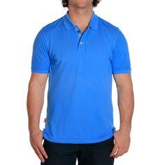 Weekday Stretch Polo - Atlantic Blue