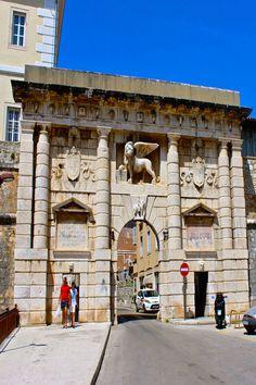 The Venetian Gate to the city in Zadar Croatia