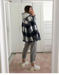 Winter Fashion Outfits, Look Fashion, Fall Outfits, Runway Fashion, Grunge Winter Outfits, Flannel Outfits, Grunge Style Winter, Winter School Outfits, Grunge School Outfits